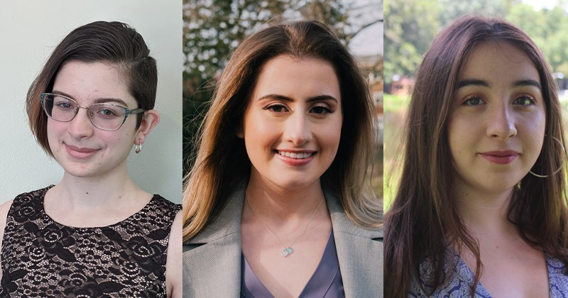 UD students Amy Ciminnisi, Elizabeth Habash and Kate Uray will pursue their greatest research passions as the 2020 class of Plastino Scholars.