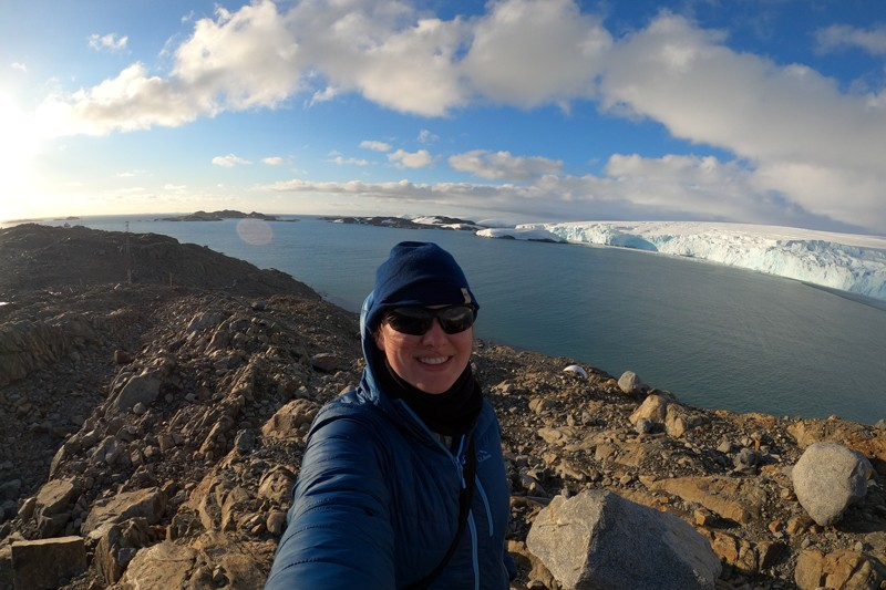 Katherine Hudson, a UD doctoral candidate and a Patricia and Charles Robertson Fellow, has spent months conducting research in Antarctica.