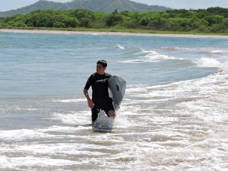 Liam Vita, UD senior, grew up surfing in Long Island -- even on bitter winter mornings. He has also spent time riding waves in Ireland and Tamarindo, Costa Rica, pictured here.
