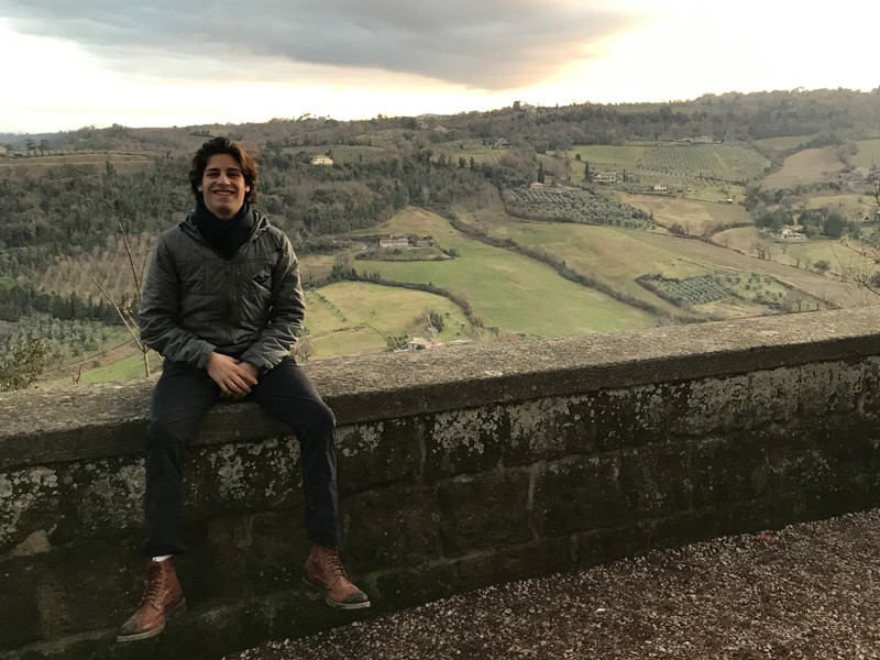 "Studying abroad in Italy was ""one of my best experiences,"" said Liam Vita, 2020's High Index Senior, pictured here in Orvieto. ""We visited six cities in a month, so the exposure was amazing. I'd highly recommend the trip."""