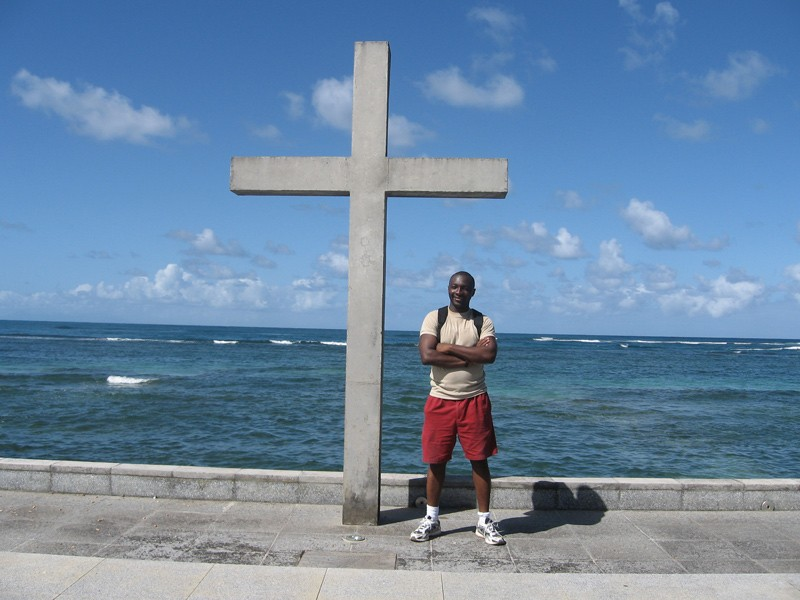 """""""Studying foreign languages allows you to become more in tune with people,"""" said Edgard Sankara, associate professor of French, pictured here during a study abroad trip he directed in Martinique. """"You are more patient, and you become a better listener."""""""